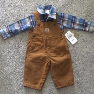 Carhartt Overalls and Shirt